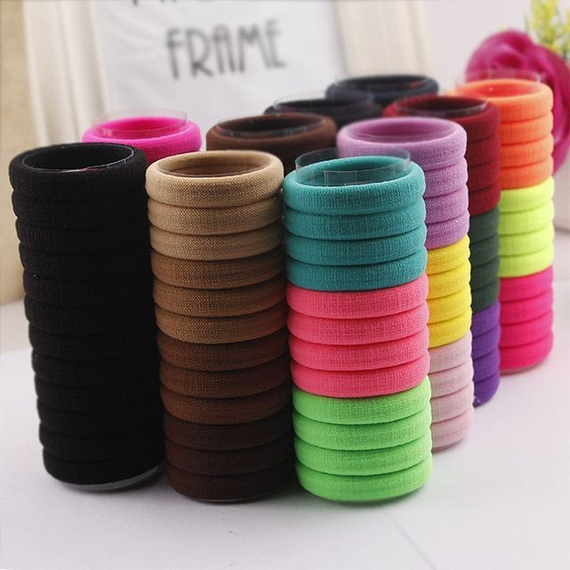 24 PCS Candy Colored Hair Holders High Quality Rubber Bands Hair Elastics Accessories Girl Women Tie Gum  Mix Colors TS003