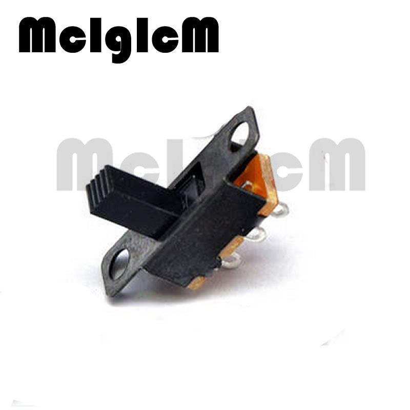 100Pcs Micro Slide Switch 3PIN 2 Position 1P2T ON-OFF Toggle Switch Handle high 6mm SS12F15VG6