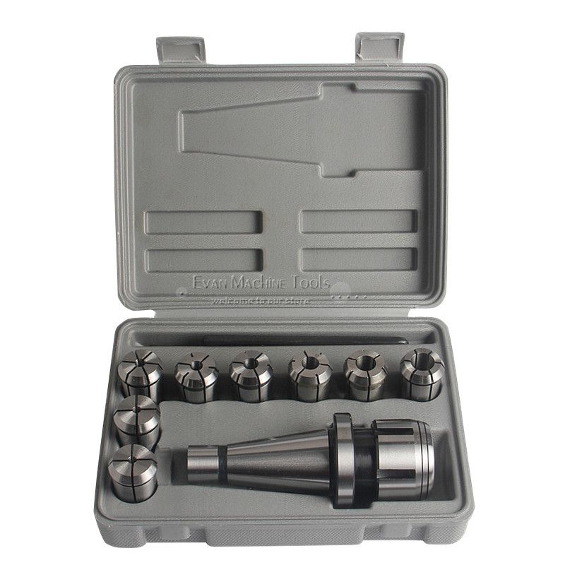 10Pcs NT40 Milling Chuck Set Precision Tool Holder Arbor Collet Chuck 4-16mm With Wrench Milling Lathe Machine Tools