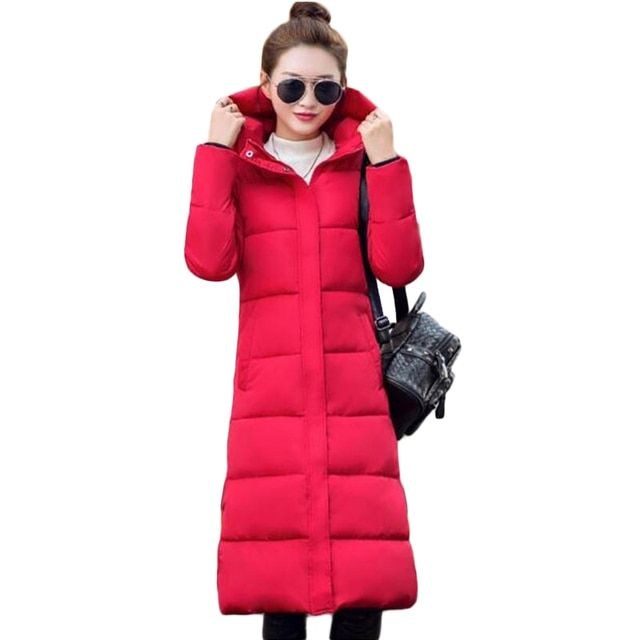 Women's winter jackets 2017  containing white duck extra long down jacket women's Ultra light weight brand  female outerwear