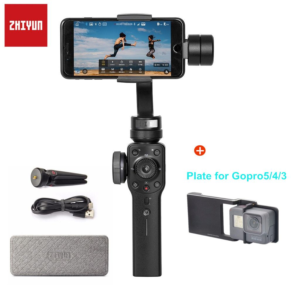 Zhiyun Smooth-Q Smooth 4 3-Axis Phone Handheld Gimbal Stabilizer Moblie for iPhone 6 7 8 X Samsung Galax S8 Plus Smartphone