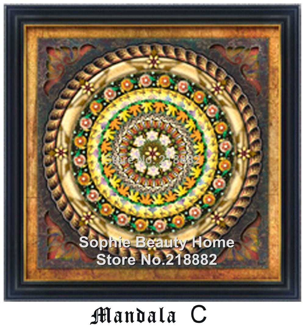 NEW Diamond Painting Picture of Rhinestones Diamond Embroidery Mosaic Cross Stitch DMC 5D Universe Meditation Mandala Series C