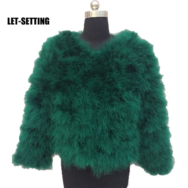 LET-SETTING 2017 ostrich fashion fur coat (can make any size) S,M,L,XL,2XL,3XL,4XL