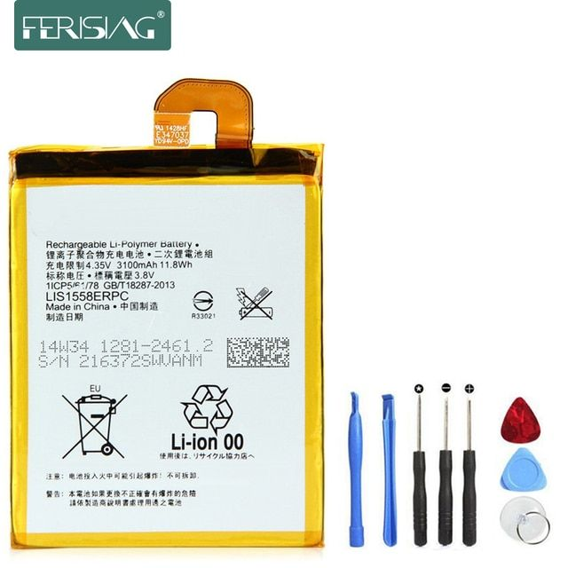 3100mAh 0 Cycle Battery For Sony Xperia Z3 LIS1558ERPC L55T L55U D6653 D6603 D6633 D5803 D5833 D6616 D6708 Phone Batteries+T
