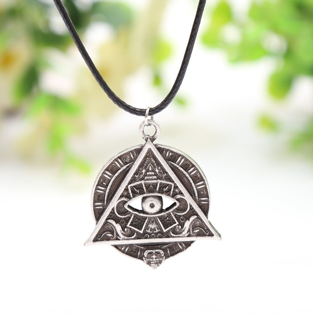 Mayan Pyramid All Seeing Eye Mayan Icon Pagan Wicca Pendant Necklace Spiritual Amulet Necklace Talisman 4027