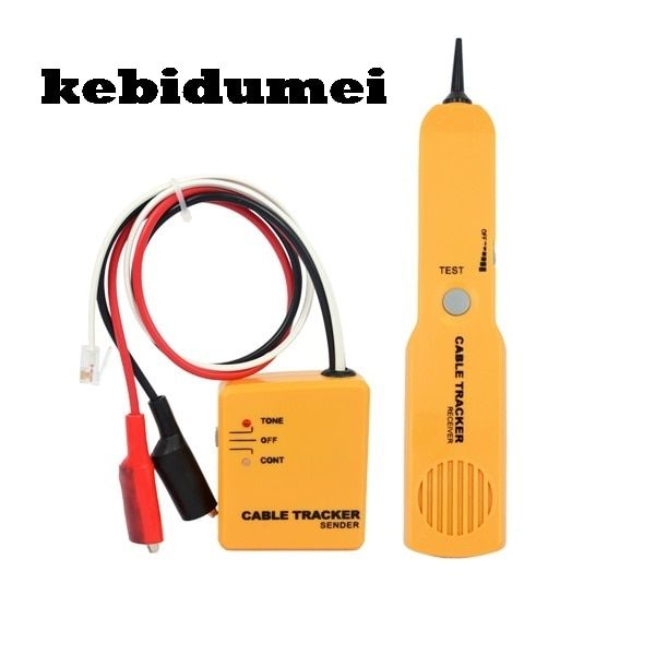 kebidumei RJ11 Network Cable Telephone Tel Phone Wire Finder Tracker Professional Cable Tester Networking Detector Tool Kit