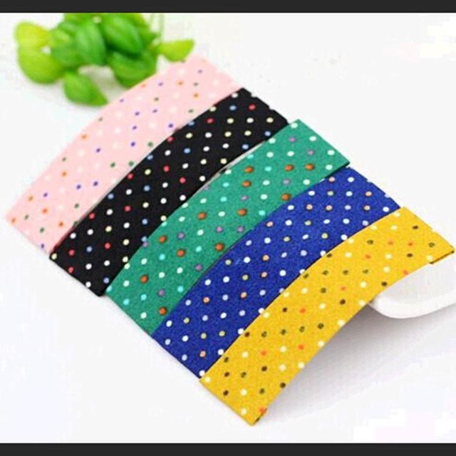 Colorful Dots Rectangle Cloth Hair Clips Barrettes Fashion Girls Headwear Hair Accessories for Women