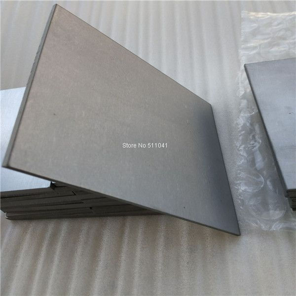 10 pcs Titanium alloy metal plate grade5 gr.5 Gr5  Titanium sheet 3mm thick wholesale price ,free shipping