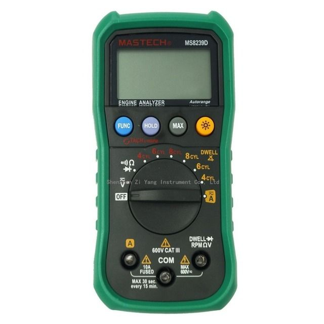 Newest MASTECH MS8239D Digital Automotive Multimeter And Engine Analyzer Dwell Angle/ Speed 4CYL~8CYL Continuity Test