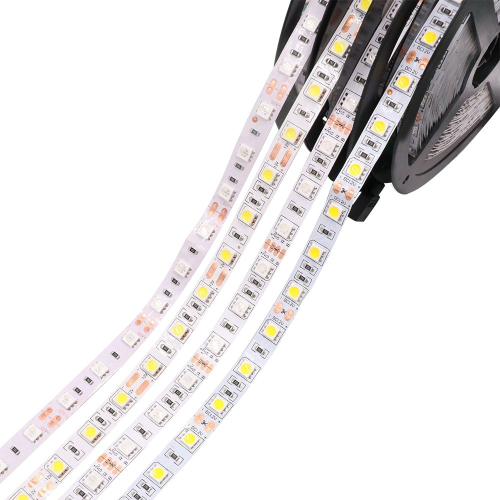 DC12V 5M 60LEDs/m 32.8Ft 5050 300 LED Strip Tape Light cool white/warm white/ red/green/blue/yellow/RGB  Waterproof IP65 IP67