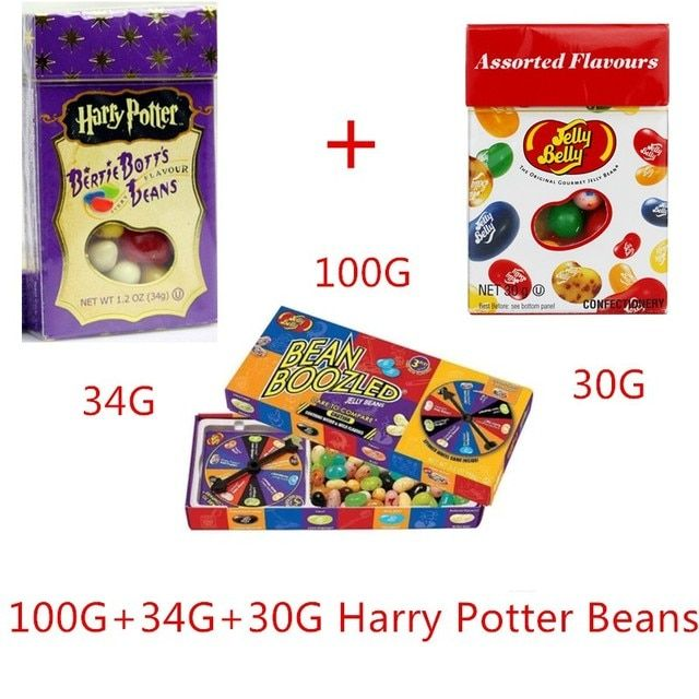 Imported Candies Food Belly Candy Bean Boozled Strange Bean Harry Potter Candy Jelly Beans Snack Bertie Botts Halloween 3 Boxs