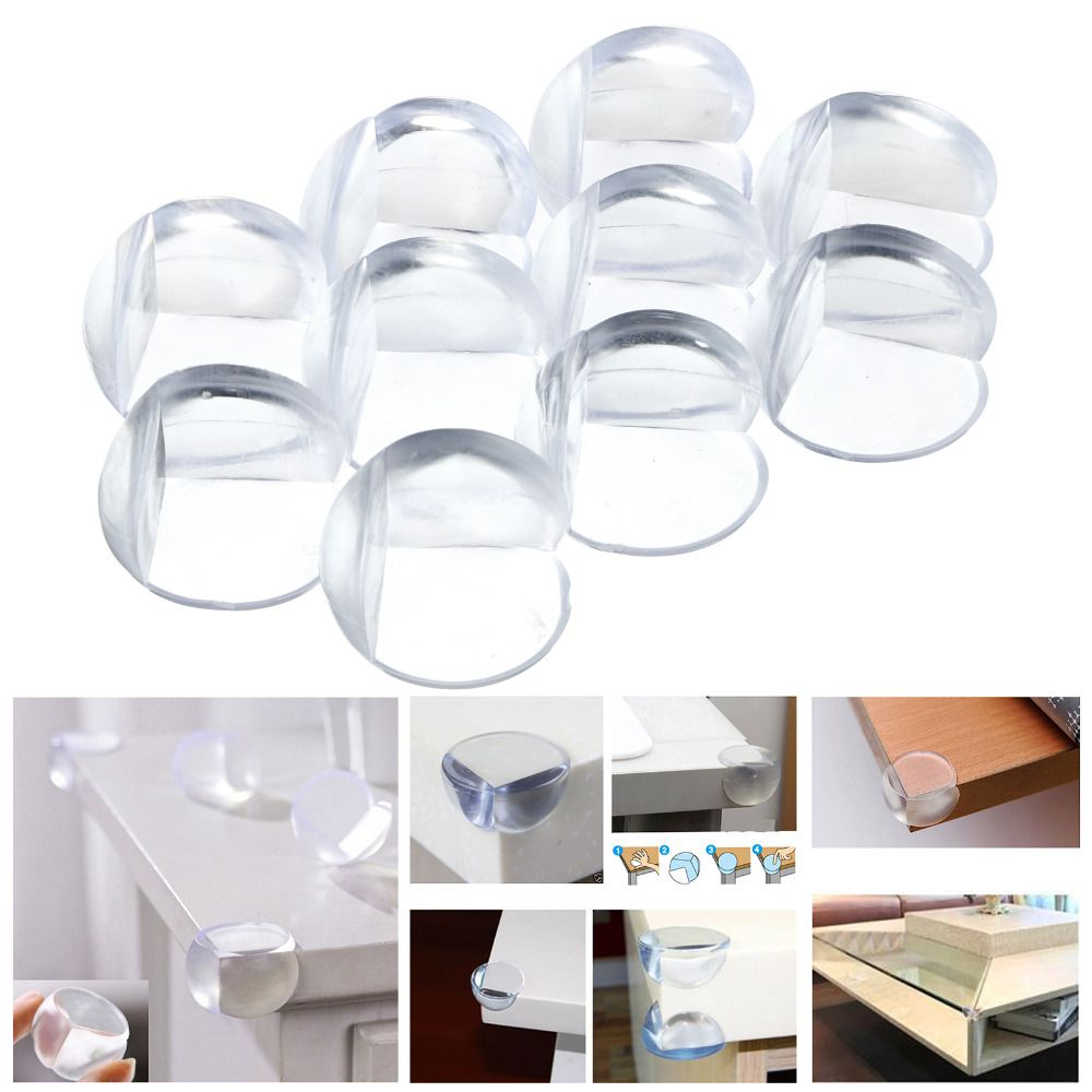10pcs Baby Safety Silicone Protector Table Corner Edge Protection Cover Children Anticollision Edge & Corner Guards