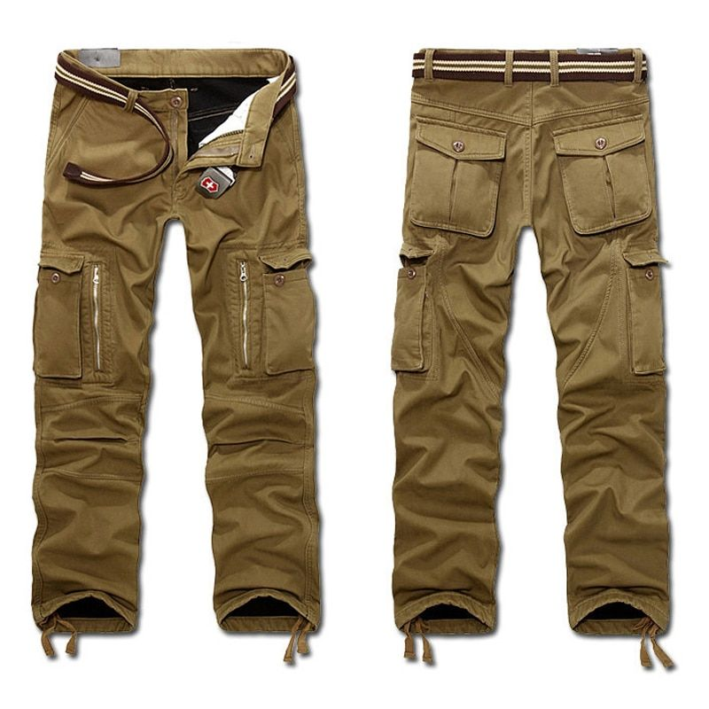 2019 New Men's Winter Tactical Pants Military Casual Cargo Pants Male Overalls Casual Fleece Trousers Large Plus Size 29~40 hot