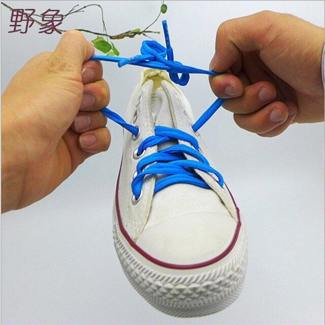 high quality creative  lazy button shoelaces polyester solid shoelaces no tie shoelaces for women /children for sports shoes