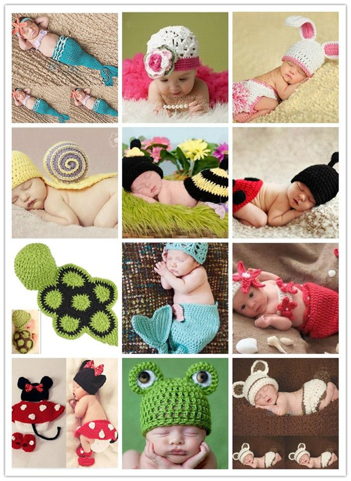 Free shipping Wholesale Factory Princess Baby Animal Costume Sale Handmade Children Knit Crochet Photography Props hats Newborn