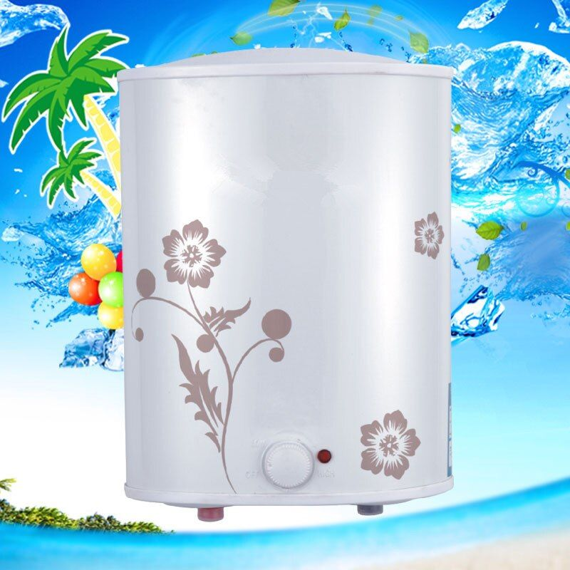 Top Outlet Electric Storage Tank Water Heater Bathroom Shower Vertical Type 6L / 7L Instantaneous Rapid Hot solar heater backup