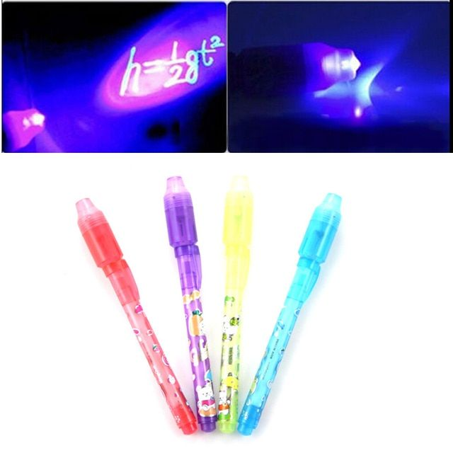 1PCS School Office Drawing Magic Highlighters 2 in 1 UV Black Light Combo Creative Stationery Invisible Ink Pen Highlighter