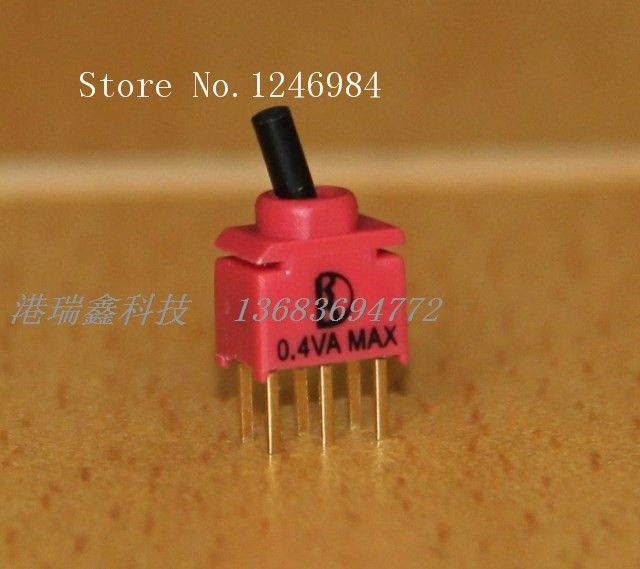 [SA]Six foot two tranches 2U Dual ultra-small toggle switch waterproof Taiwan Deli Wei DPDT Toggle Switch--20pcs/lot