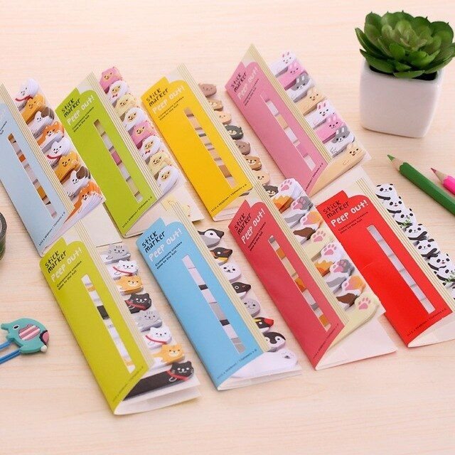 Decoration Stationary Kawaii British Style Animals Mini Memo Notepad note Book memo Pad sticky Notes Book Mark Random A-040