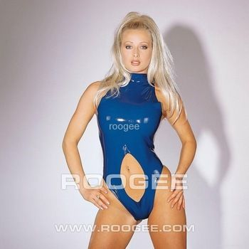 women's clingy latex bodysuit swimsuit