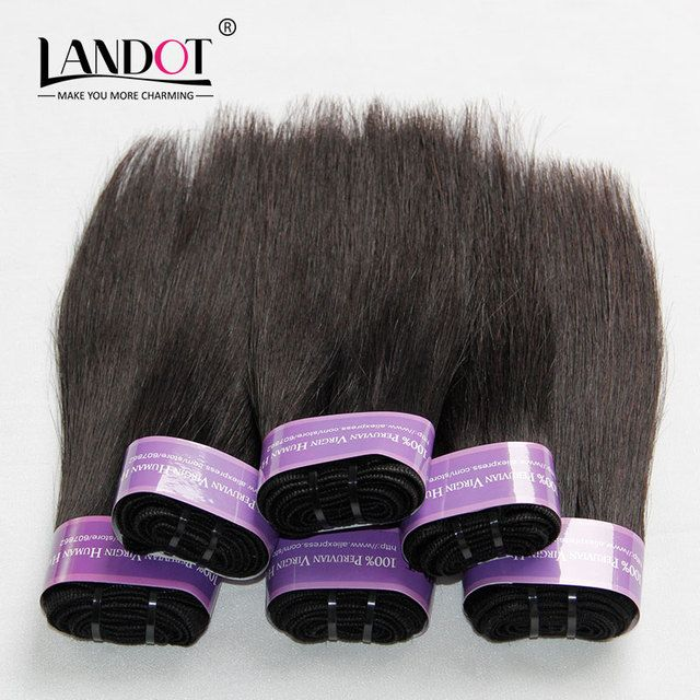 BOB Style Peruvian Virgin Hair Straight 6pcs 300g Peruvian Straight Hair Extensions Cheap Human Hair Weave Bundles Natural Color
