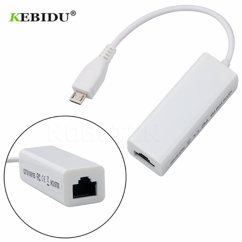 Kebidumei USB 2.0 Ethernet 10/100 Mbps RJ45 Network Card Lan Adapter For Windows 7 8 windows 10 For Mac