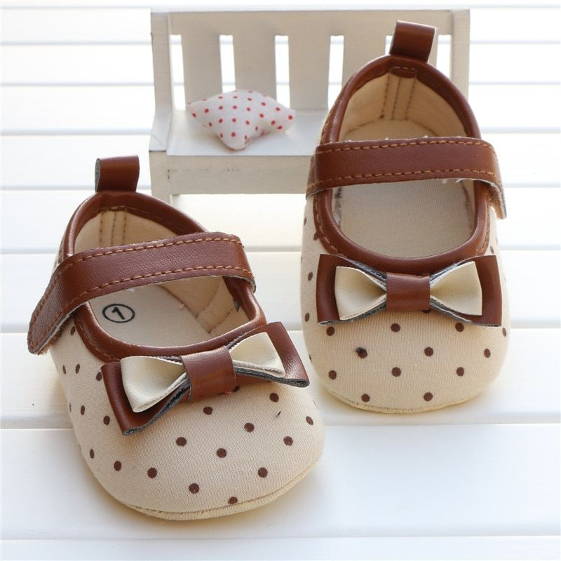 baby girl first walker shoes newborn toddler girl bowknot bow polka dot soft sole pram shoes sapatos infantil calzado ninas