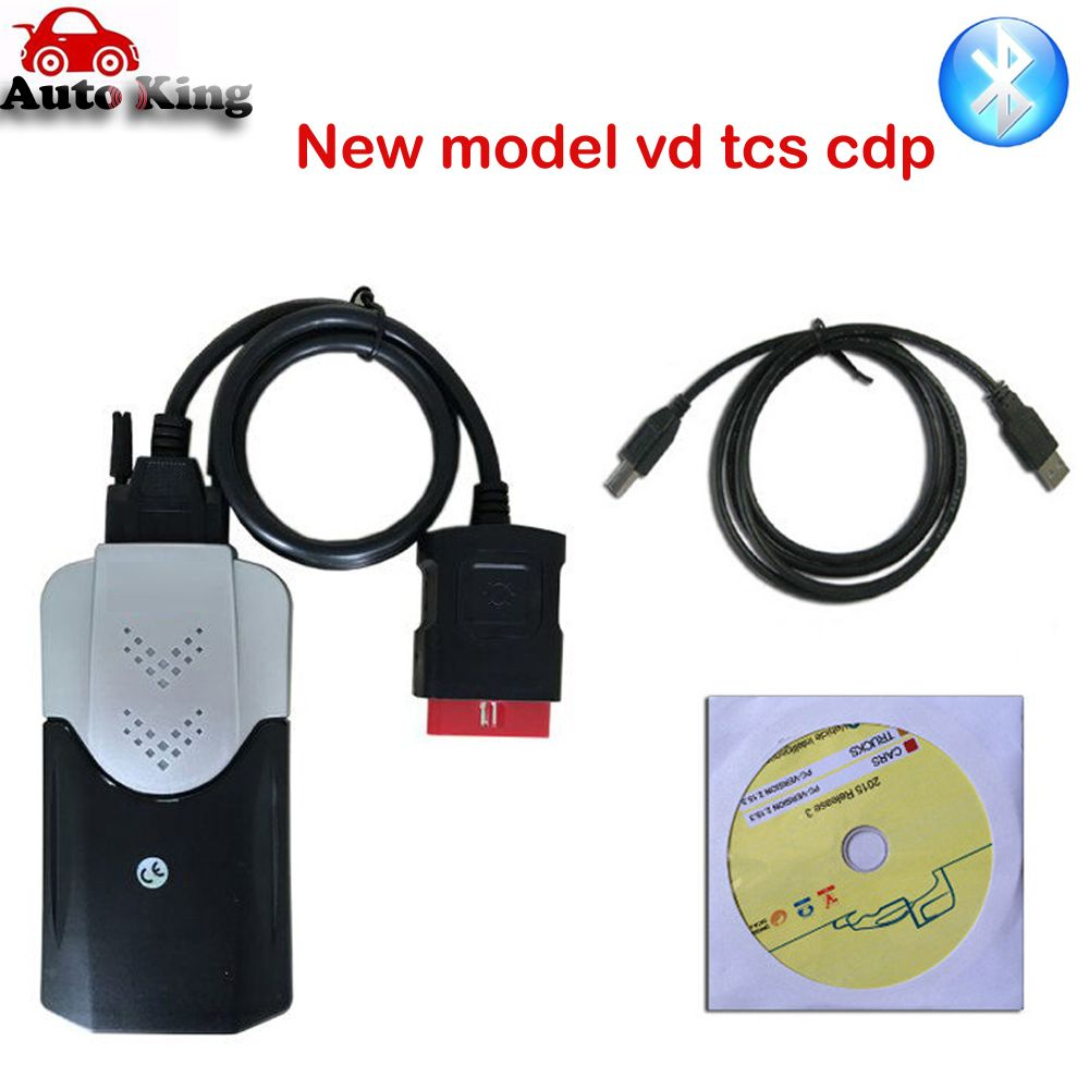 New come out model with Bluetooth function vd TCS  pro new vci  CARs TRUCKs obd scan tools 2016.0 dvd -ship free