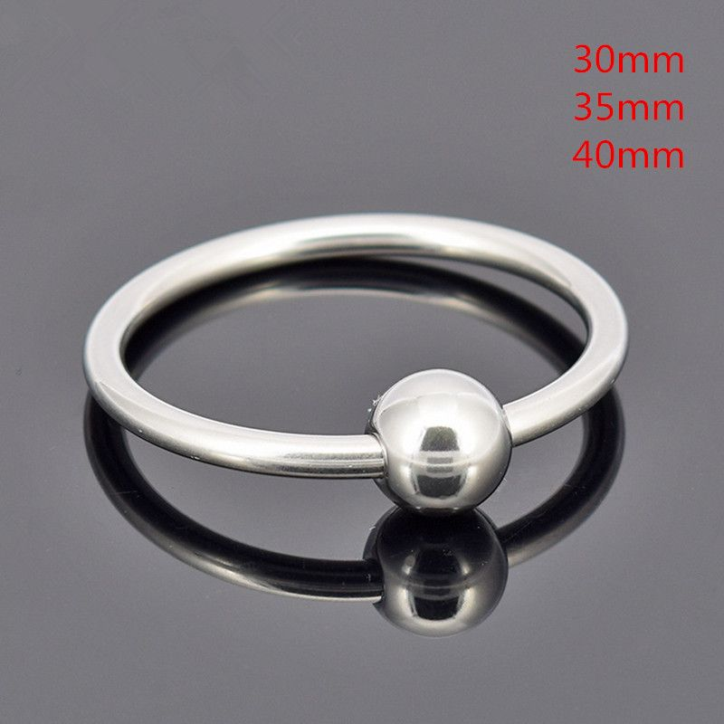 30 35 40mm Male Penis Delay Ring Stainless Steel Cock Ring Adult Sex Toys for Couples Glans Jewelry Cockrings J7-1-30