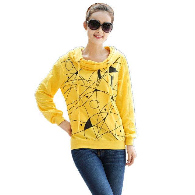 2016 Spring Autumn Women Hoodies Sweatshirt Women Loose Casual Long-Sleeved Plus Size Hooded Sweatshirts Tracksuit M-XXXXL