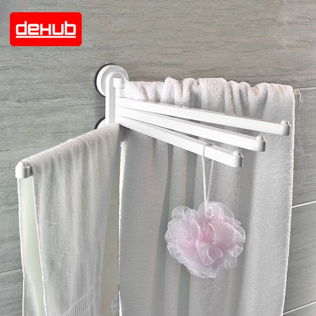 Suction cup Towel Holder Rotating Towel Rack Bathroom Kitchen Towel Plastic Rack Holder Hardware Accessory Bathroom Towel Holder