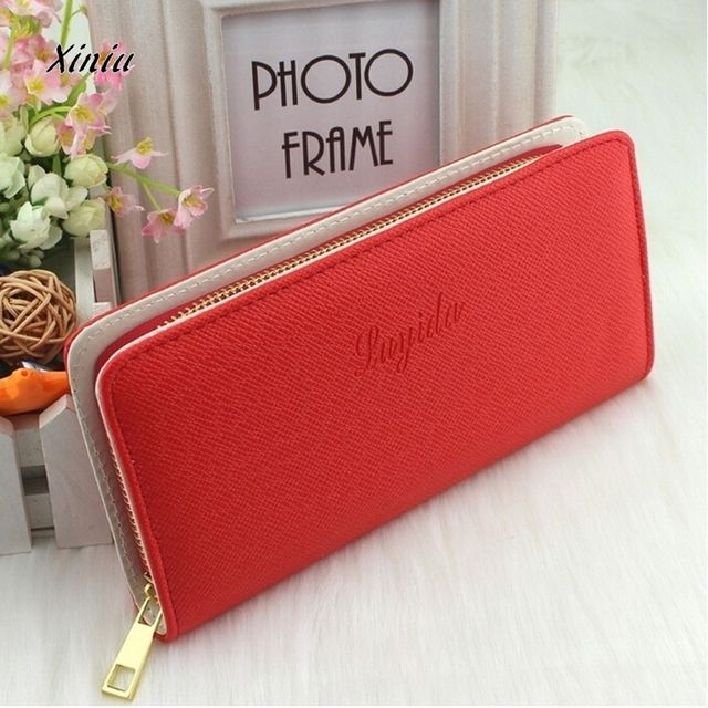 Wallet bag Women Korean Cute Women Leather Wallets Long Clutch Wallet Coin Purse Bags wholesale lady purse High capacity free