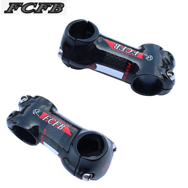2016 new arrive FCFB FW  white red  25.4 mm stem carbon Aluminum bicycle stem carbon road mountain stem bike parts 50/60/70/80mm