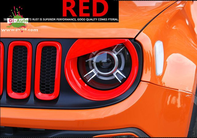 FOR 2015-16 JEEP Renegade limited latitude trailhawk longtitude ABS ANGRY BIRD STYLE HEADLIGHT COVER EYEBROW TRIM COVER 2P