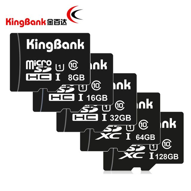 KINGBANK TF card  micro sd card class 10 Real capacity  16GB 32GB 64GB 128GB memory cards