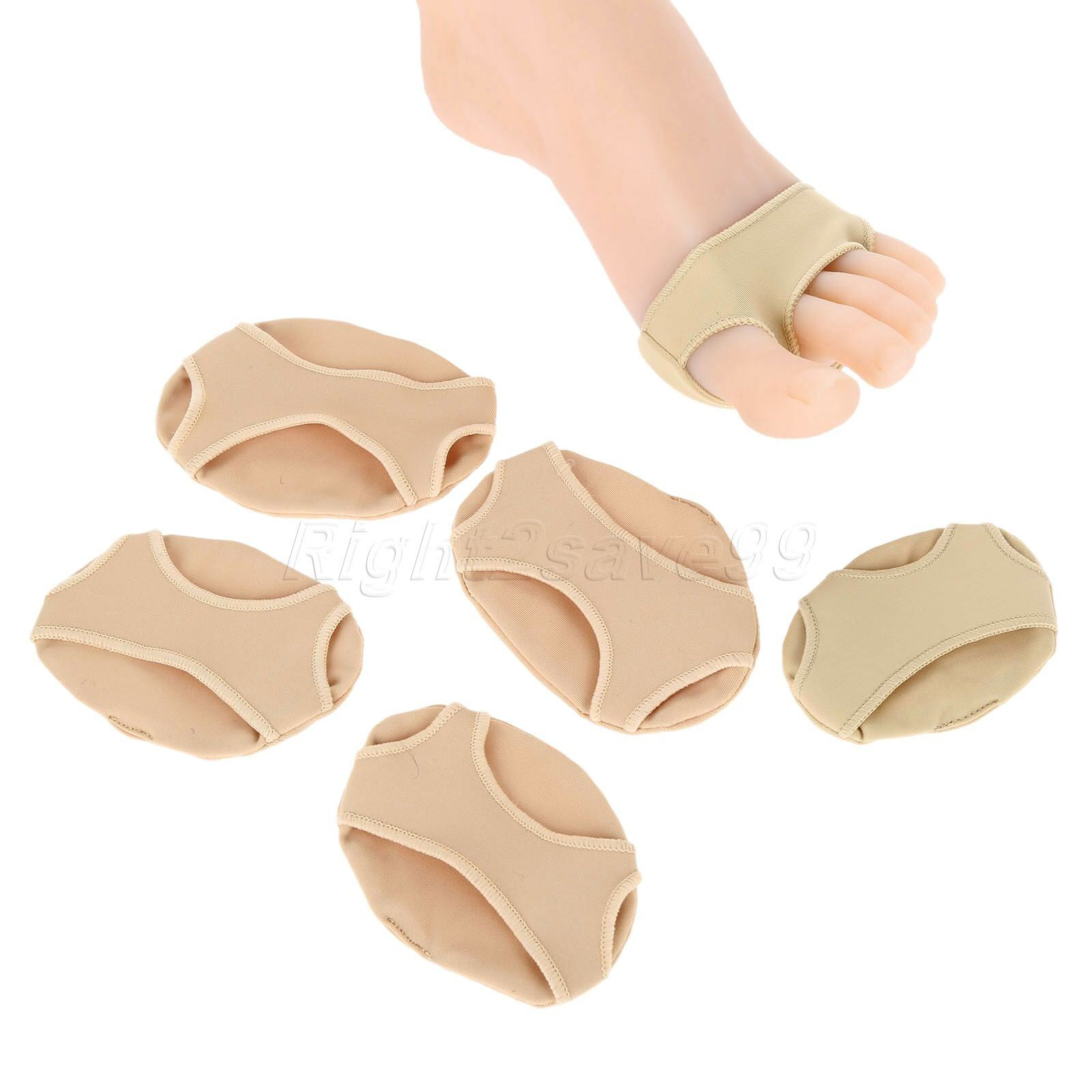 2PCS/1Pair Forefoot Metatarsal Cushion Ball Silicon Gel Pad Foot 3 Hole little Toe Separator Pain Relief S M L