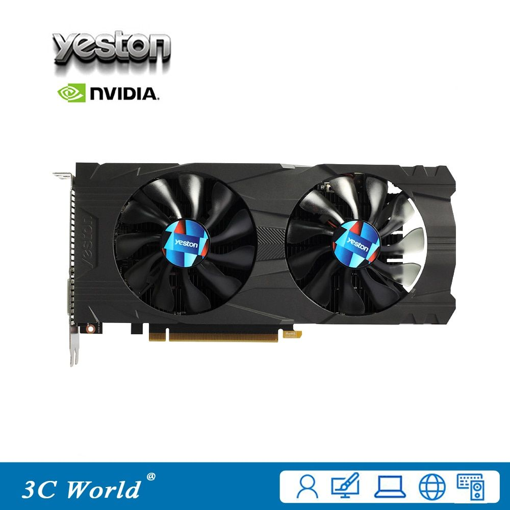 YESTON NVIDIA Graphics Card GeForce GTX 1050Ti 4GB GDDR5 128bit HDMI DVI DP 768SPs Original Desktop Graphics Card
