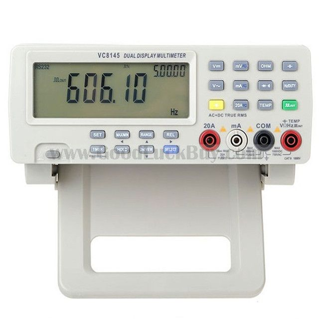 VICI VC8145 Digital Bench Top DMM Multimeter Temperature Meter Tester PC Analog 80,000 counts Analog Bar Graph w/ 23 segments