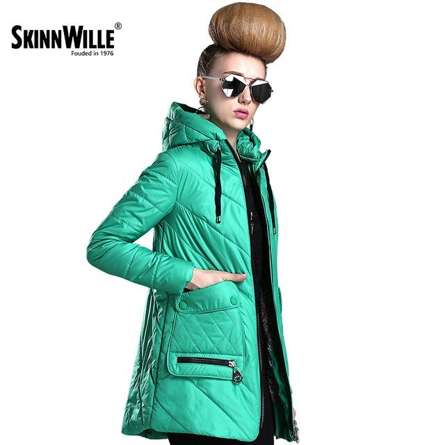 SKINNWILLE2017 New Windbreaker Windproof Jacket Cloak Coat Big Collar Spring Cotton Clothing Cotton padded Coat Women's Clothing