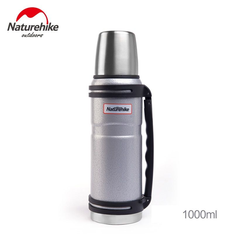 NatureHike 1000ML Big Capacity Sports Bottle Stainless Steel Tumbler Water Bottles Thermos Outdoor Cup Mug