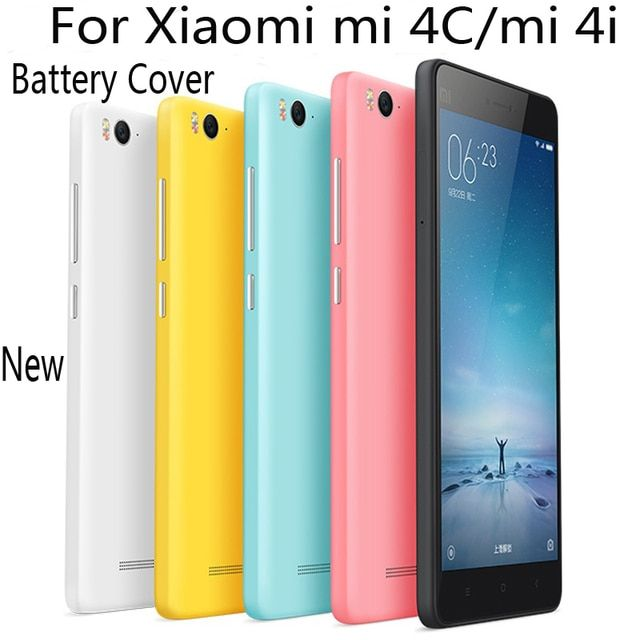 New Replace Battery Back Cover case for xiaomi mi 4C hard protector cases for xiaomi mi4C phone housing with SIM Card Slot