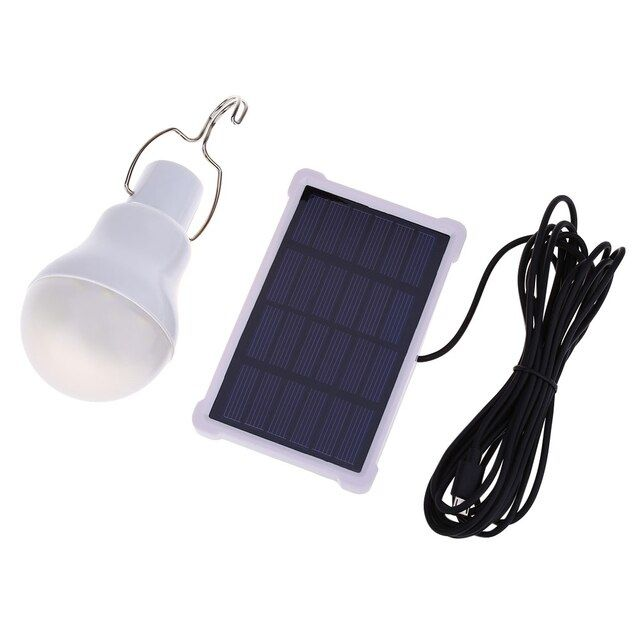 140LM Solar Powered Lamp Portable Solar Panel Led Bulb Outdoor Garden Light led Lighting For Camp Night Travel Used 5-6 hours