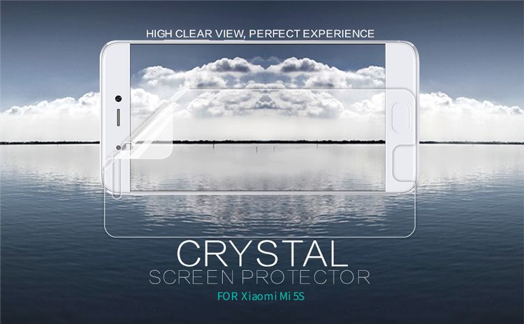 Original NILLKIN Super Clear HD Anti-fingerprint protective film For Xiaomi Mi5S Screen protector ,for Xiaomi Mi5S case
