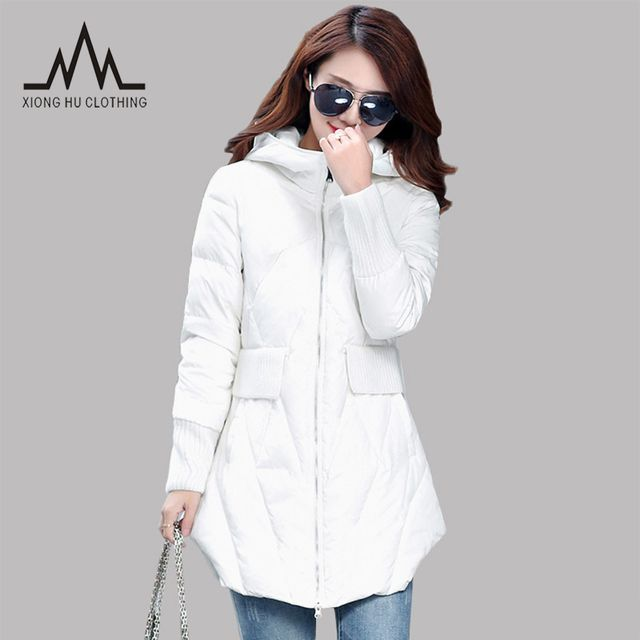 New Winter Jacket Woman Outerwear Slim Hooded Down Jacket Woman Warm down coats Women Ultra Light White Duck Down Parkas