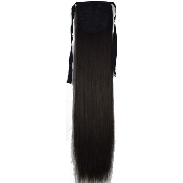 "TOPREETY Heat Resistant B5 Synthetic Hair Fiber 22"" 55cm Straight Ribbon Ponytail Hair Extension 60 Colors Available"