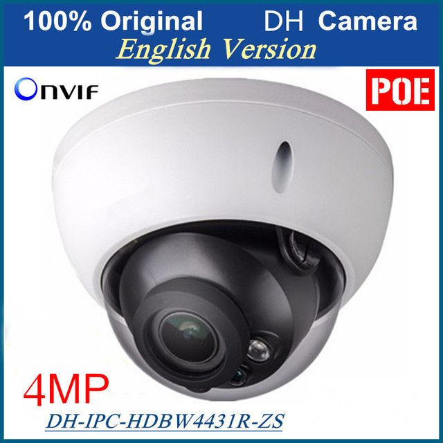 DH English Firmware IPC-HDBW4431R-ZS IP Camera 4MP Varifocal Motorized Lens 2.7-12mm Support POE