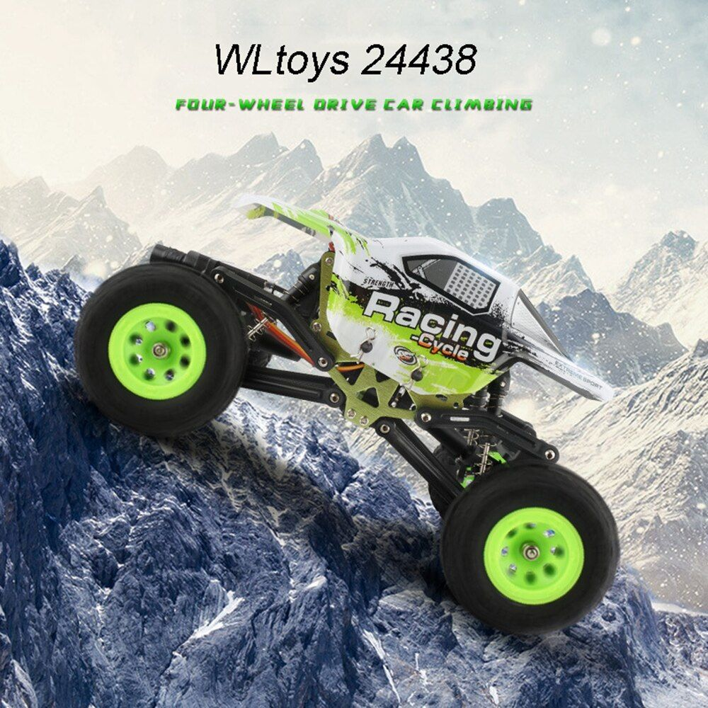 1:24 WLtoys 24438 RC Rock Crawler 2.4G 4WD Off Road RC Bigfoot Car Remote Control Vehicle Toy