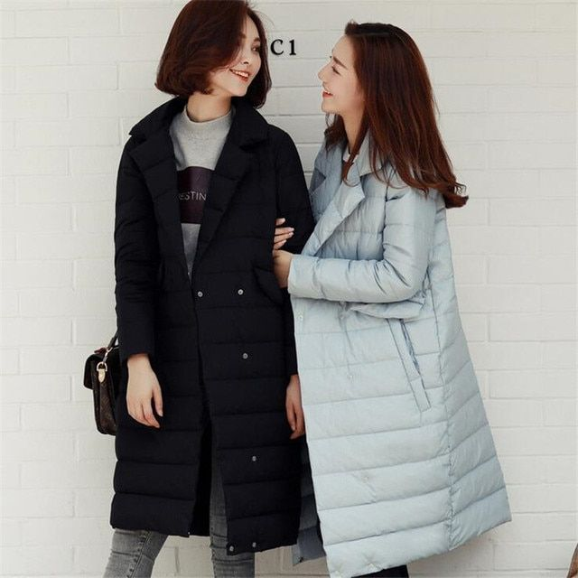 S-XL Plus Size Fashion Women Turn Down Collar Winter Jackets Slim Long Ladies Parka Padded Thick Warmer Outwear Women's Jackets