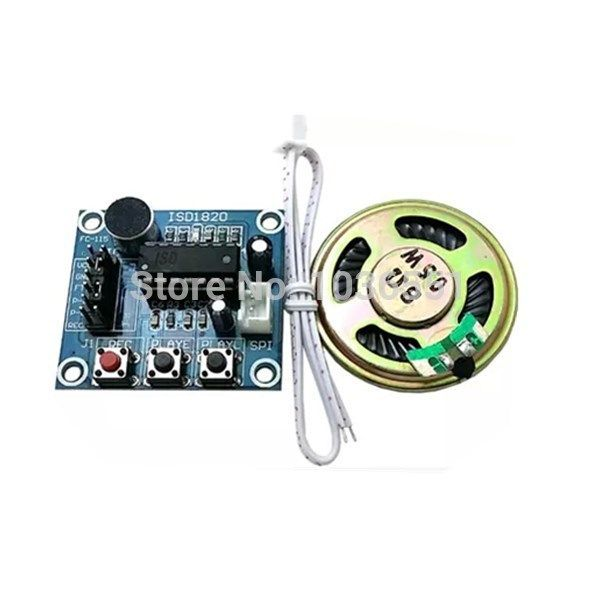 5pcs/lot ISD1820 Voice Sound Recording Module With Microphones and 0.5W Loudspeaker for Arduino