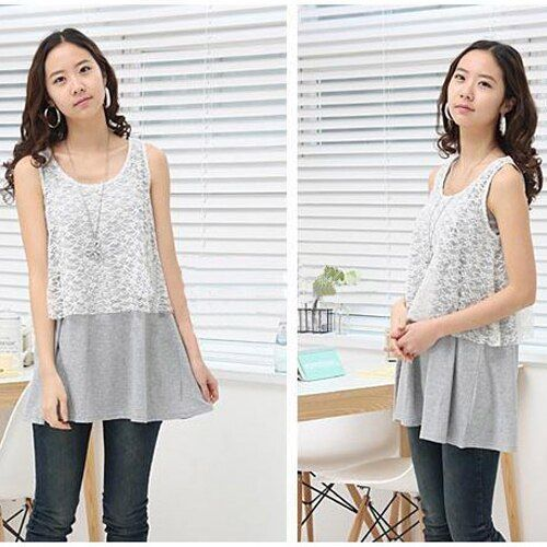 Cotton Breastfeeding T shirt Maternity Nursing Tanks Clothes Pregnant Premama Lace Lactaion Tops Fashion Mothers Feeding T-shirt